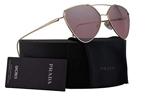 Prada PR51US Sunglasses Pale Gold w/Violet Mirror Silver Gradient 62mm Lens ZVN095 SPR51U PR 51US SPR 51U