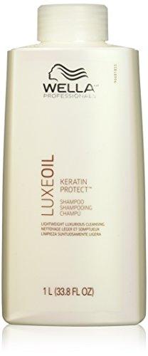 Wella Luxeoil Keratin Protect Shampoo, 33.8 Ounce