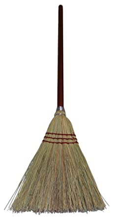 "Wilen E503000, Lobby Corn Broom with 7/8"" Handle, 38-1/2"" Length (Case of 12)"