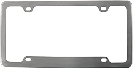 Aluminum License Plate Frame >> Amazon Com Custom Accessories 92544 Brushed Aluminum Legacy License