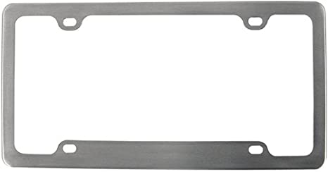 Aluminum License Plate Frame >> Amazon Com Custom Accessories 92544 Brushed Aluminum Legacy License