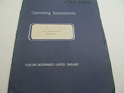 Marconi Tm 6629 & 6629/1 Instruction Manual, Schematics, Parts - Marconi Memory