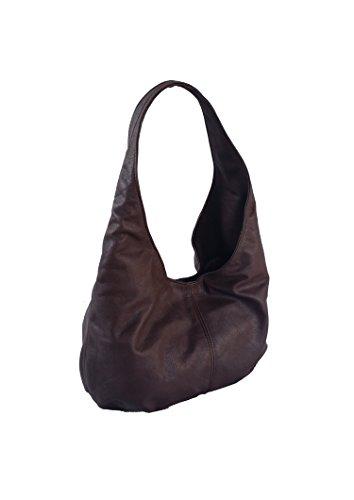 Fgalaze Brown Leather Hobo Bag, Everyday Slouchy Handbag,...