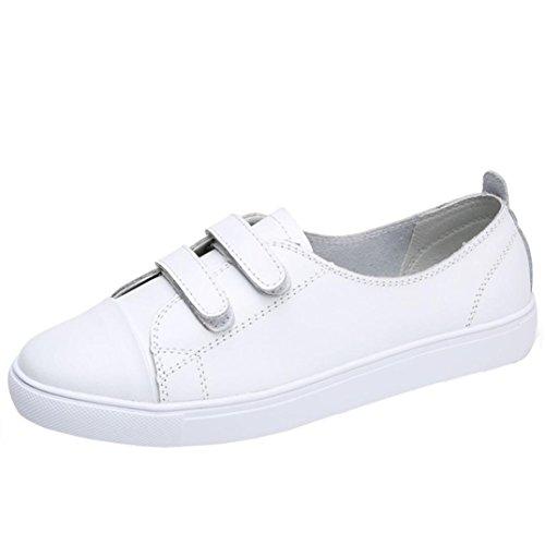Zapatillas para Mujer,Zapatos Planos de Cuero de Las Mujeres Zapatos Zapatos Perezosos de Ocio Sandalias Cómodas B