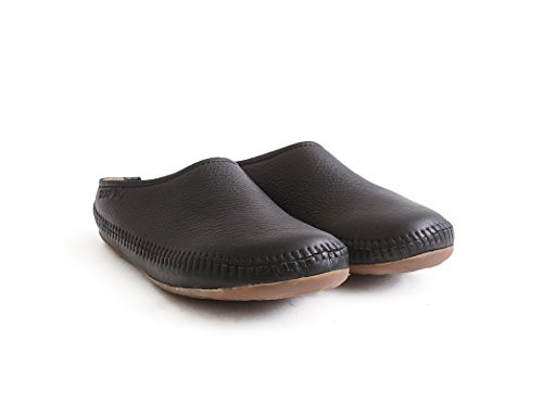 Unisex Haflinger Indietro Aperto Softino Pantofole Adulti Nero aqTCM0wX
