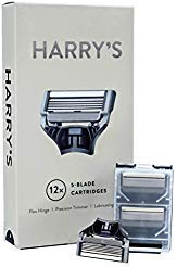 (Harrys Razor Blades (3 Packs of 4) in Durable Hinged Water Friendly Travel Cases)