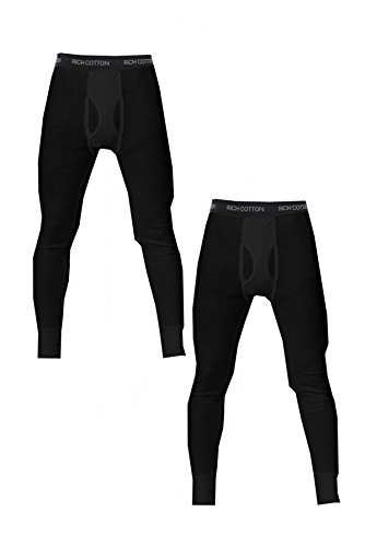 Rich Cotton 2 Pack Bottom (M, Black) (Ws Thermal Tight)
