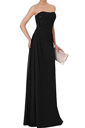 Elegant Marie Brautmutterkleider Lang Spitze Braut La Partykleider Abendkleider Chiffon Schwarz Etuikleider 6ACnq