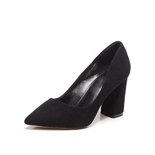 In donna E Alla Shoes Heeled Autunno Signore Dura Primavera In Superficiale Solo 6Cm da Scarpe Black 40 KPHY Le Detto High Scarpe Moda Donne qwExfnaTX