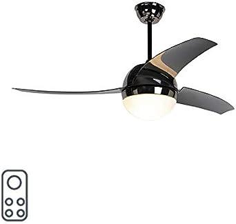 QAZQA Moderno Ventilador de techo con luz y mando a distancia ...