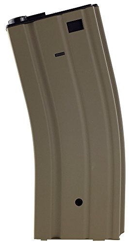 300 Round Aeg Magazine - SportPro Jing Gong 300 Round Metal High Capacity Magazine for AEG M4 M16 Airsoft – Tan