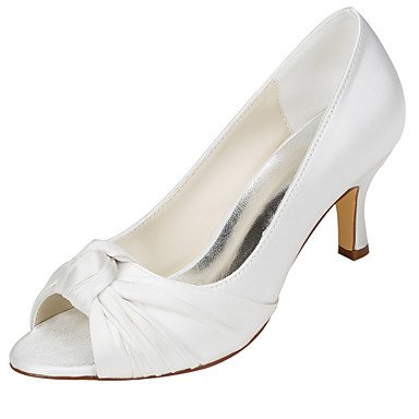 RTRY Las Mujeres'S Wedding Shoes Bomba Básica De Satén Stretch Primavera Verano Boda &Amp; Noche Bowknot Stiletto Heelivory Champagne Rubor Rosa US5.5 / EU36 / UK3.5 / CN35