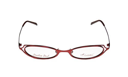 Thalia Samba WomensLadies Prescription Ready Popular Shape Designer Full-rim EyeglassesGlasses (48-18-135 Shiny Red)