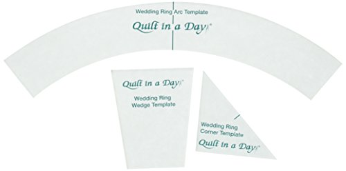 Quilt In A Day Double Wedding Ring Templates (3 Pack) (Double Template Wedding Ring)