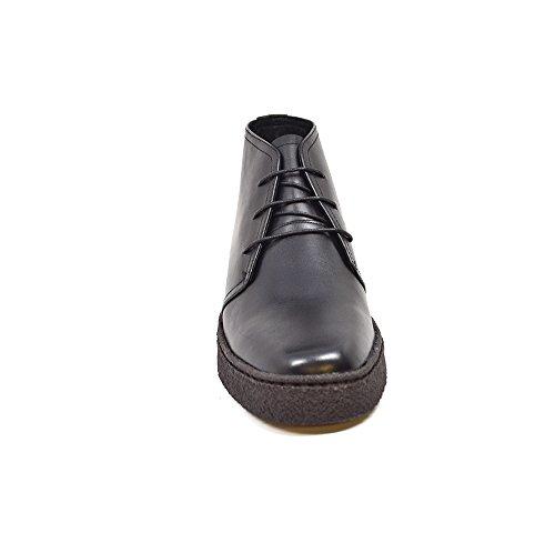 Collection Britannique Original Playboy Haut Chaussures En Cuir Noir