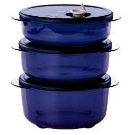 Tupperware Vent N Serve 3pc Small Round Set Nocturnal Sea Dark -