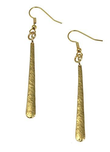 Nu Gold Tear Drop Earrings By John S Brana Handmade Jewelry Brass Earrings ()