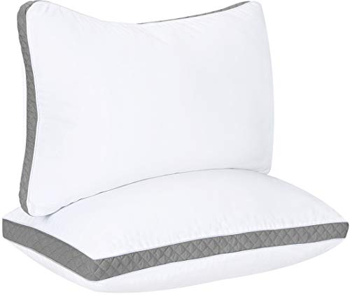 Utopia Bedding Gusseted Quilted Pillow (2-Pack) Premium Quality Bed Pillows