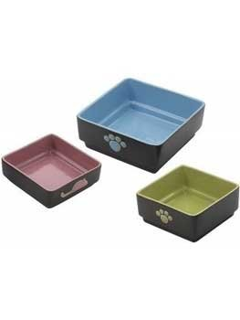 - Ethical Pet Four Square Cat Dish Color: Green