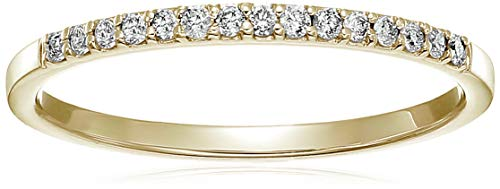 (Vir Jewels 1/8 cttw Petite Diamond Wedding Band in 10K Yellow Gold In Size 6)