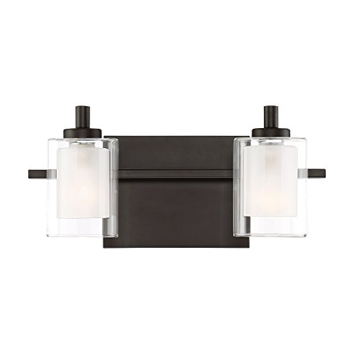 Quoizel KLT8602WTLED Kolt Modern Vanity Bath Lighting, 2-Light, LED 9 Watts, Western Bronze (6