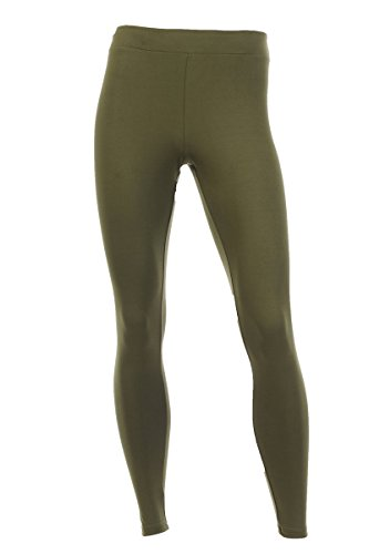 Neovic Mens Athleisure Ultra Soft Knit Yoga Pants Base Layer Casual Solid Leggings - Olive - 2XL