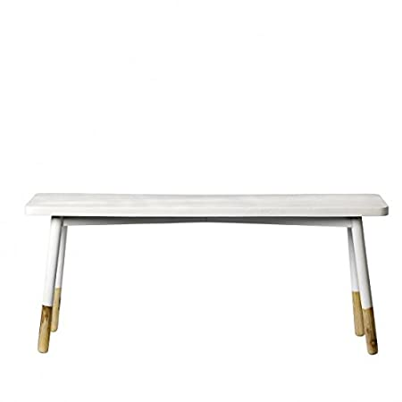 Bloomingville Banc Deco Bois Blanc Bloomingville Amazon Co Uk