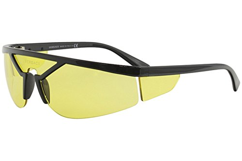 Versace VE4349 Sunglasses GB1/85-39 - Black Frame, Yellow ()
