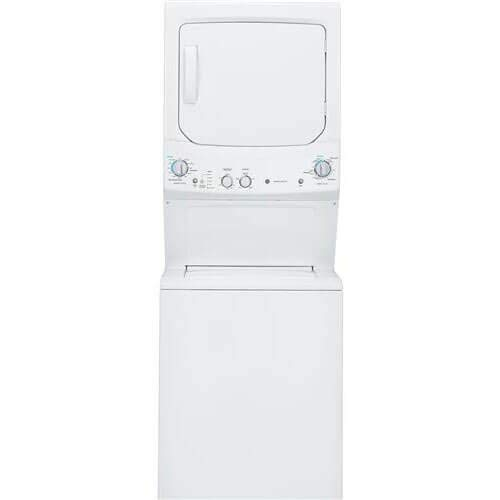 (GE GUD27GSSJWW Spacemaker 9.1 Cu. Ft. White Gas Laundry Center (Renewed))