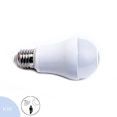 Bombilla LED (7 W, E27, y crepuscular Sensor de movimiento, luz blanca