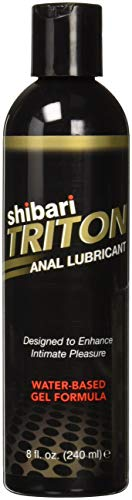 Shibari Triton Anal Lubricant, Premium Water-Based Gel Formula, Quality Anal Lube, 8 Fluid ()