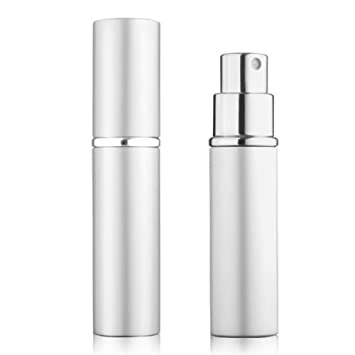 4a4d048fad5d 5starwarehouse® Refillable Perfume Atomiser Atomizer Aftershave Travel  Spray Miniature Bottle 6ml (Silver)