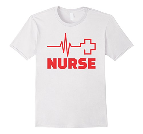 [Mens Nurse Costume T-Shirt- Easy Halloween Costume 2017 Large White] (Nurse Halloween Costumes 2017)
