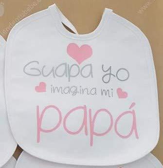 Babero Personalizado Con Frases Bonitas Para Bebes Regalo