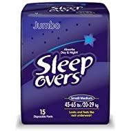 Special 4 packs ofSleep Over Youth Briefs - Sm Med - 15 per pack - First Quality SLP05301