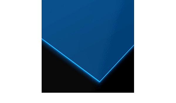 Metracrilato Plancha fluor Din A4 Medidas 21cm x 29,7cm Grueso 3mm Color azul