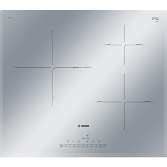 Bosch Serie 6 PIJ659FC1E Integrado Con - Placa (Integrado, Con placa de inducción, Vidrio y cerámica, Gris, Metálico, LED, Tocar)