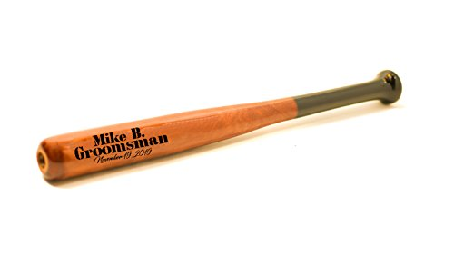 Sofia's Findings Personalized - Custom Engraved Mini Baseball Bat - Ring Bearer Groomsmen Gift