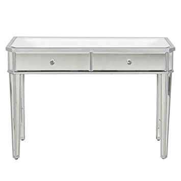 vanity desk. Best Choice Products Mirrored Console Table Vanity Desk Mirror Glam 2  Drawers Home Furniture Amazon com