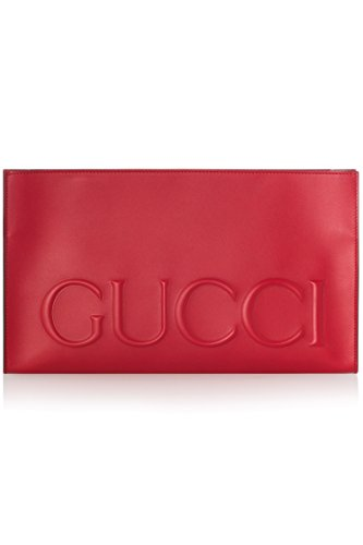 Gucci XL Red Calf Leather Large Clutch Bag Leather Envelope Bag Only 1 Italy New by Gucci