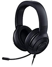 Razer Kraken X - Gaming Headset (Ultralichte Gaming-Headphones voor PC, Mac, Xbox One, PS4 en Switch, Hoofdbandvulling, 7.1 Surround Sound) Zwart