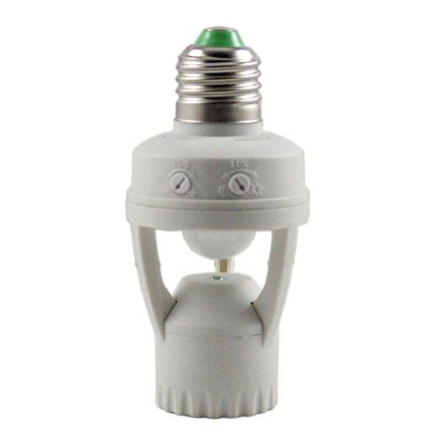 Alloet AC 110-240V Infrared Motion Sensor Holder E27 Plug Socket Switch Base Led Bulb Light Lamp Holder (2#)