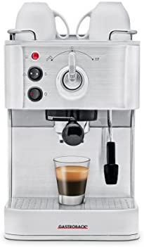 Gastroback 42606 Cafetera Espresso Puls, 1250 W, 1.5 litros, 0 Decibeles, Acero Inoxidable, Plata