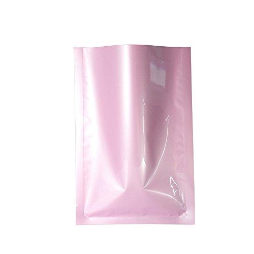 "QQ Studio 100 PCS Metallic Mylar Foil Open Top Sealable Bags (6x9cm (2.3x3.5""), 100x Light Pink)"
