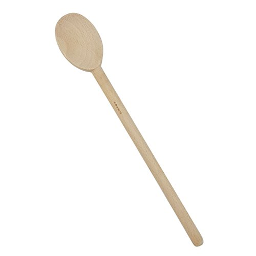 French Beechwood Mixing Spoon - KSC French Beech Wood Mixing Cooking Spoon-12 Inch Long
