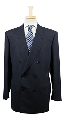 brioni Penne Oxford Blue Wool Double Breasted Sport Coat Size 60/50 (Brioni Jacket)