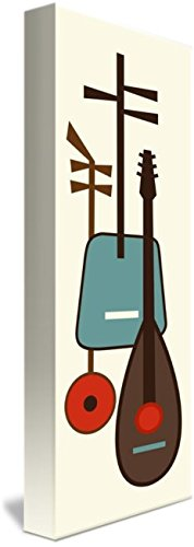 Wall Art Print entitled Musical Instruments 1 by Donna Mibus | 11 x 32