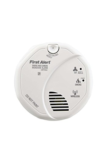 First Alert SCO501CN-3ST Battery Operated Combination Smoke and Carbon Monoxide Alarm with Voice - Smoke Detector Wireless Photoelectric