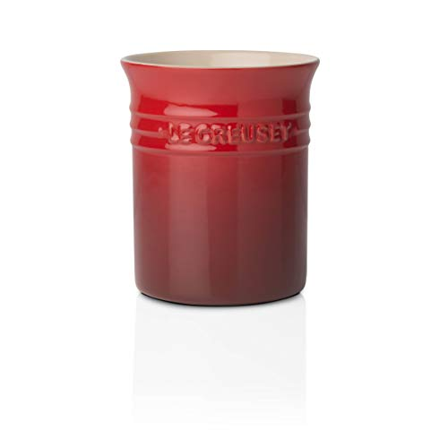 Le Creuset 6 x 4.75 Inch Stoneware Straight-sided Cherry Red Utensil Crock ()