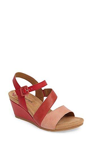 Sandalo Con Zeppa Comfortiva Viola, Misura 9 M - Rosso